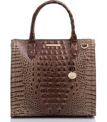 brahmin caroline melbourne embossed leather satchel