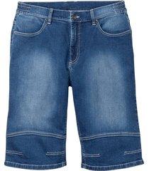 bermuda di jeans elasticizzati con taglio confortevole (blu) - bpc bonprix collection