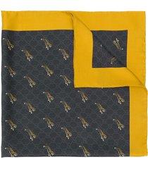 gucci tigers print gg scarf - black