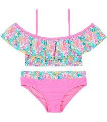 bikini flamenkini est. y pantal rosado h2o wear