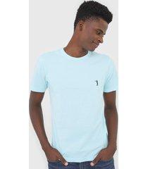 camiseta aleatory logo azul - azul - masculino - algodã£o - dafiti