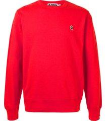a bathing ape® ape patch sweatshirt - red