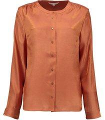 blouse satin look oranje