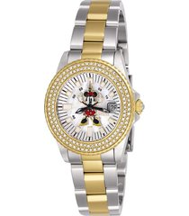 reloj acero dorado disney limited edition invicta 26742 dama