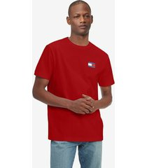 tommy hilfiger badge t-shirt blush red - xl