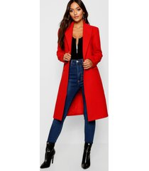 petite duster coat, red