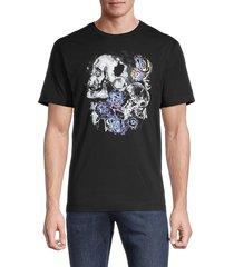 robert graham men's skull-graphic cotton tee - black - size xl