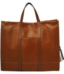 fossil carmen leather tote