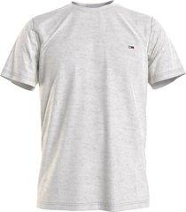tommy hilfiger dm0dm10101 pj4 t-shirt classic silver grey jeans