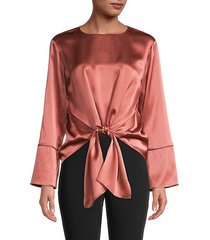 self-tie silk top