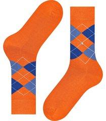 burlington socks manchester mercerised cotton socks | orange/blue | 20180-8983