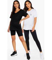 zwangerschap fietsbroek en leggings (2 stuks), black