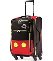 "american tourister disney mickey mouse pants 21"" spinner suitcase"
