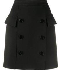 dorothee schumacher button front mini skirt - black