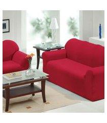 capa de sofá 2 e 3 lugares   vermelho - panosul