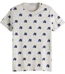 t-shirt all-over print grijs