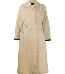 jil sander oversized layered belted trench - neutrals