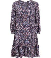 boss floral tunic dress - blue