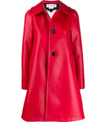 comme des garçons girl leather look lace heart jacket - red