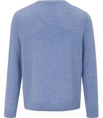 trui met v-hals van louis sayn blauw