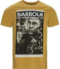 goudkeurig t-shirt barbour met opdruk