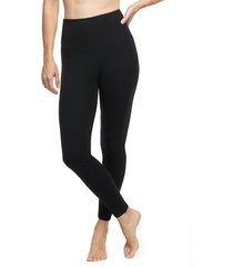 yummie women's pull-on stretch leggings - black - size s