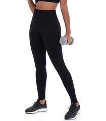 calça legging alto giro sem costura essential preto 101311 preto