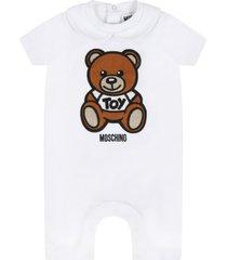 moschino white romper for babykids witth teddy bear