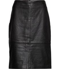 skirt leather knälång kjol svart gerry weber