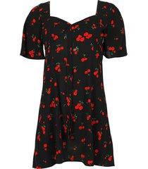 black cherry print emily sweetheart mini dress