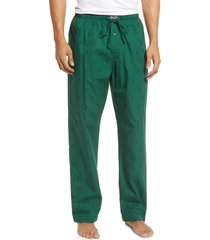 men's polo ralph lauren print woven pajama pants, size x-large - green
