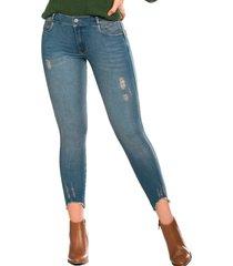 jeans  silvestre push up ochentero azul tyt