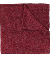 emporio armani fine knit scarf - red