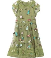 fendi green dress