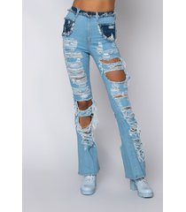 akira lucky me high waisted flared jeans