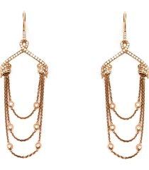stephen webster draped diamond earrings - pink
