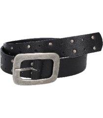 cinturón cuero texturas suaves negro zappa