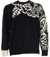 sacai sweater floral drinting