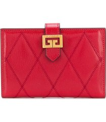 givenchy gv3 quilted wallet - red