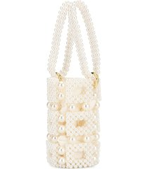 0711 esmeralda bucket bag - white