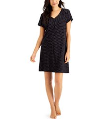 charter club the everyday cotton printed sleep shirt, created for macy's
