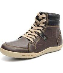sapatenis couro shoes grand cano alto masculino - masculino