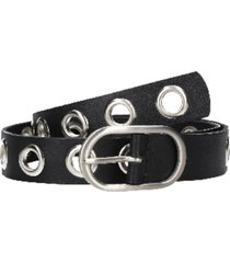 cinturón cuero distintas texturas negro