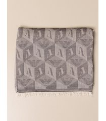 emporio armani scarf emporio armani scarf in cotton with all over logo