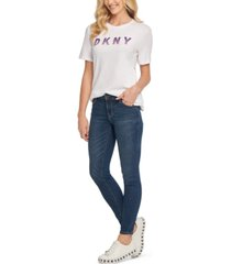 dkny ombre logo-graphic t-shirt