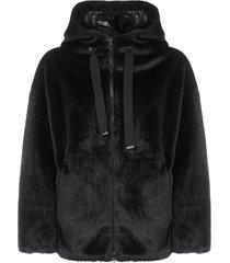 herno faux fur hooded jacket