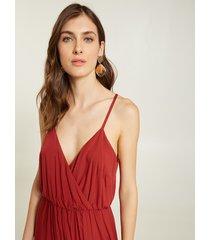 motivi vestito fluido con spacco donna rosso