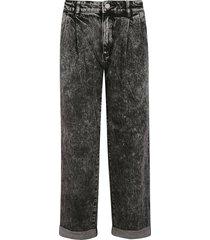 michael kors folded cuff straight jeans