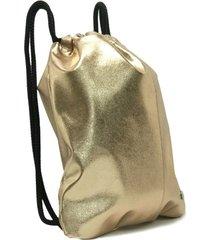 mochila dorada cruz de la rosa