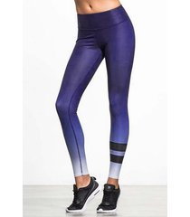 active leggings elásticos de secado rápido gradiente en púrpura